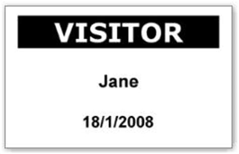 visitor pass template free print professional visitor pass badge with bepunctual