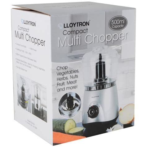 lloytron 500ml electric kitchen food processor compact