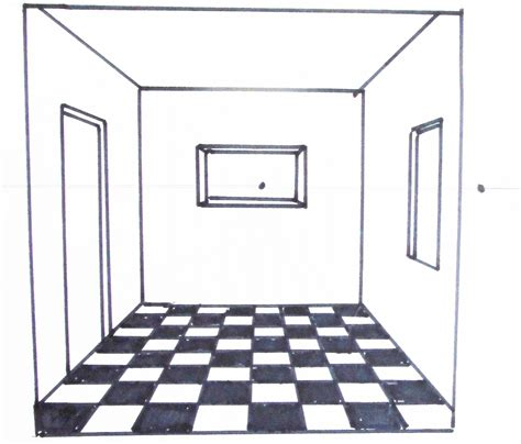 how to draw a floor drawing with perspective interior in 1 point perspective