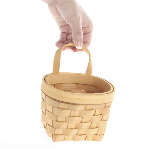Natural Woodchip Wall Basket Baskets Buckets Boxes | natural woodchip wall basket baskets buckets boxes
