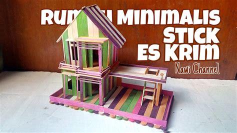 membuat rumah lego dari kardus cara membuat miniatur rumah minimalis dari stick es krim