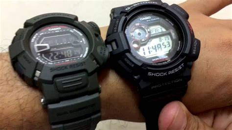 G Shock Mudman G9000 vs G9300 - YouTube G Shock Mudman G9000
