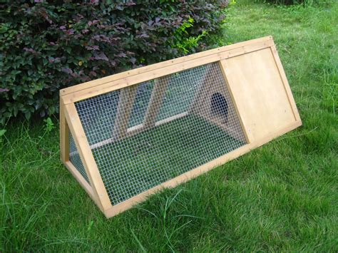 Triangle Rabbit Hutch wooden outdoor triangle rabbit hutch and run guinea pig ferret coop cage running ebay