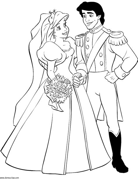 printable disney wedding coloring pages the little mermaid printable coloring pages 3 disney