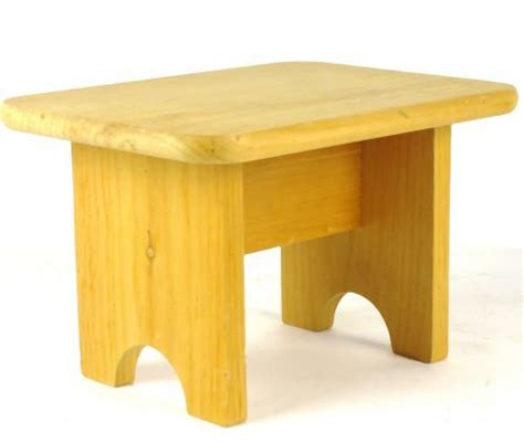 handmade step stool handmade unfinished wooden wood step