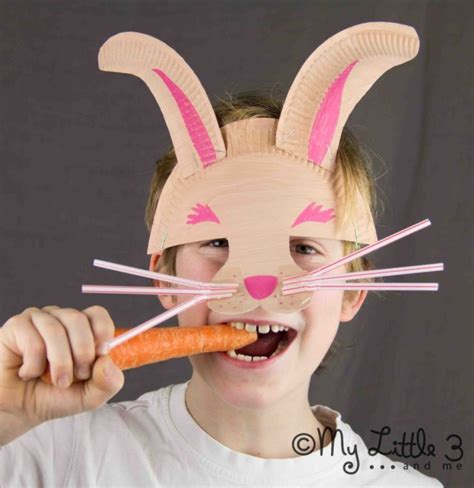 diy spring projects easter crafts diy bunny mask fun crafts kids