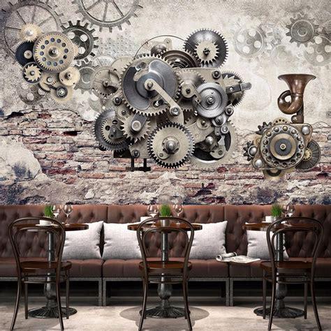 nostalgia mechanical gears wallpaper mural wall