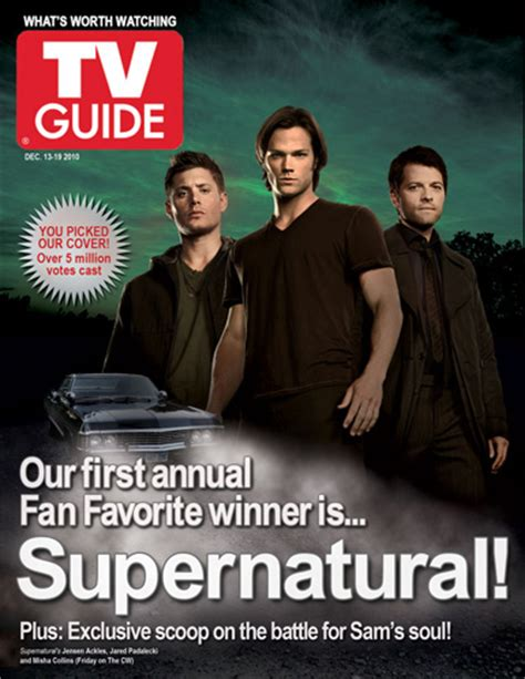 tv guide s supernatural page with tv listings your tv guide magazine redesign contest update