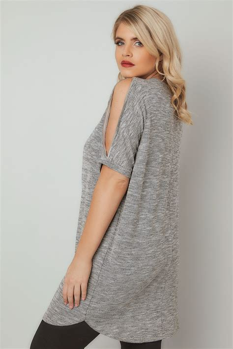 Check Value Of Visa Vanilla Gift Card - blue vanilla curve grey metallic fine knit top with zip cold shoulder plus size 18 to 28