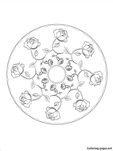 mandala coloring pages roses mandala roses coloring page coloring pages
