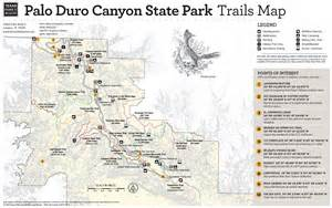Palo Duro Canyon State Park Map by Palo Duro Canyon State Park Map Www Galleryhip Com The