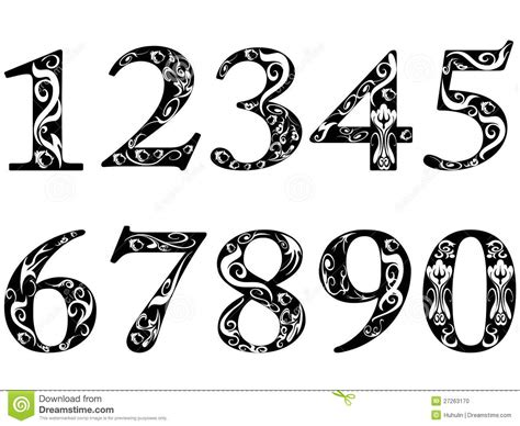 pattern numbers stock vector illustration of decorative