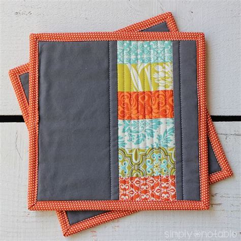 Quilted Tutorial by Modern Quilted Potholders Simply Notable