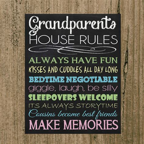 grandparents house rules grandparents house rules 8x10 print perfect gift idea more than words madeit com au