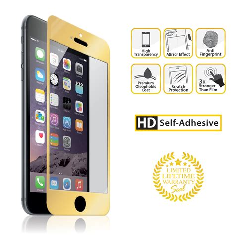 Galaxy A8 Colorful Tempered Glass Gold iphone 6 6s plus gold tempered glass