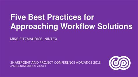 sharepoint workflow best practices five best practices for approaching workflow solutions