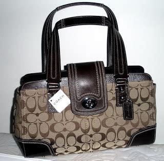 Coach Mini Signature Mahogany Nwt Tas Coach Original ibaby coach nwt 13975 mahogany hton carryall purse bag