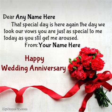 Wedding Anniversary Wishes Card With Name Edit by Anniversary Wishes Images Search