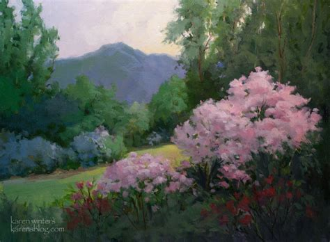 Garden Of Oils by Descanso Gardens Garden Summer Painting By California Impressionist Winters