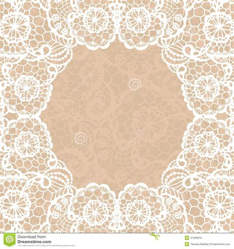 vintage lace invitation card stock vector image 47206910