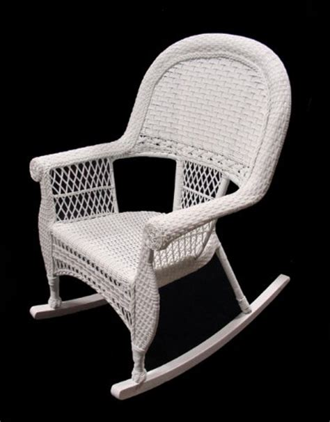 White Resin Wicker Chairs by 39 White Resin Wicker Outdoor Patio Rocking Chair Best