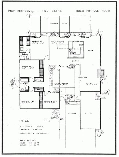 eichler plans eichler floor plan for houses floor plans for houses