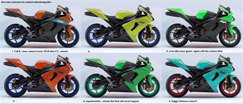 motorcycle paint color schemes bikercolors in
