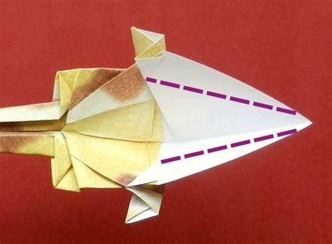 Origami Parasaurolophus - joost langeveld origami page