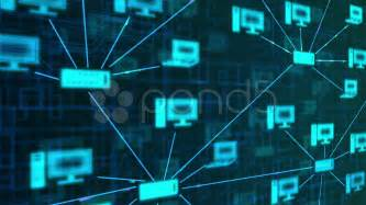 computer network background blue stock footage