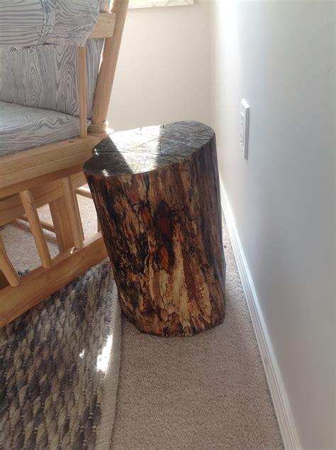 Tree Stump Side Table The Nursery Diy Tree Stump Side Table Frugal To Freedom