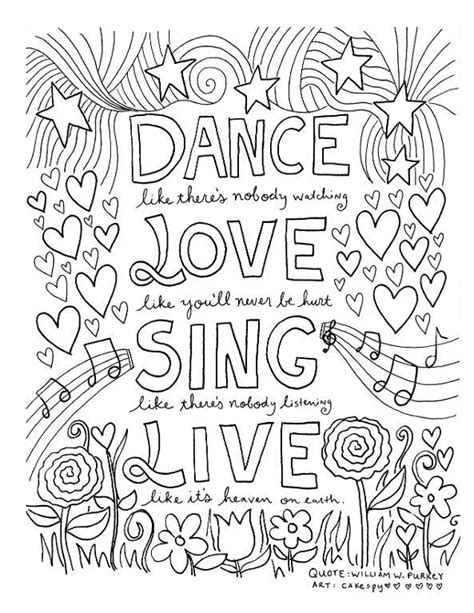printable inspirational quotes to color famous quotes coloring pages