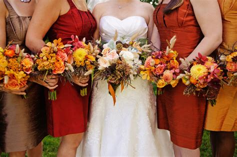 fall colors for a wedding a wedding on weddings