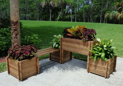 wooden flower planters 15 smart space saving furniture and flower planters for your balcony
