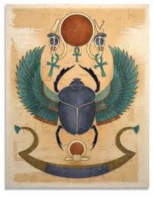 items similar to egyptian art print winged scarab sun god