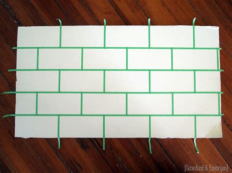 faux tile painted backsplash using chalky finish paint painted backsplash slate subway tiles