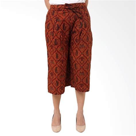 Celana Alibaba Pendek Batik Wanita jual batik distro r1320 celana kulot pendek wanita