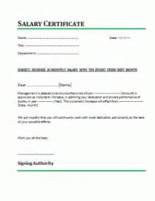 Salary Loan Application Letter Company 21 Free Salary Certificate Template Word Excel Formats