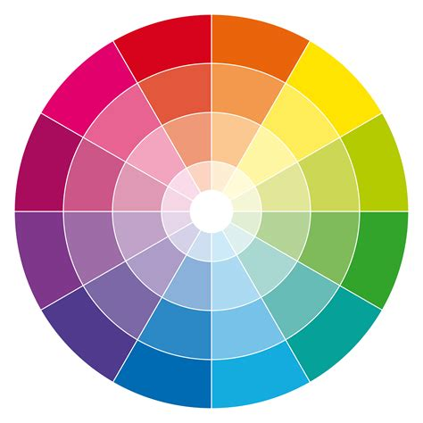 12 hour rgb cmyk color wheel with tones and tints color pinterest color wheels