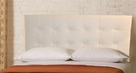 Wall Mounted Headboards For Size Beds by Wall Mounted Size Headboard Upholstered In White Genuine