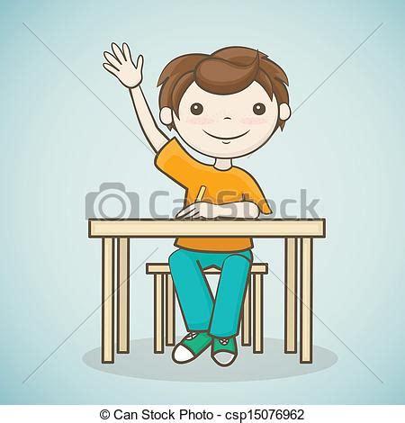 imagenes graciosas levantando la mano clip art de vectores de levantado el suyo estudiante