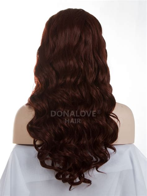 middle of back length weave 35 mid back length wavy synthetic lace wig sny009