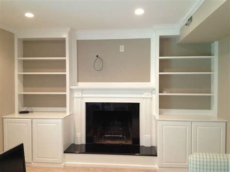 cabinets around fireplace design fireplace mantel and bookshelves american hwy