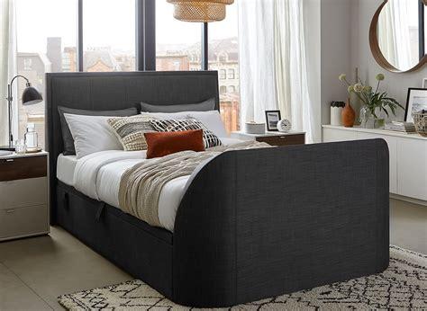 Alexander Slate Fabric Tv Ottoman Bed Frame Dreams Dreams Ottoman Beds
