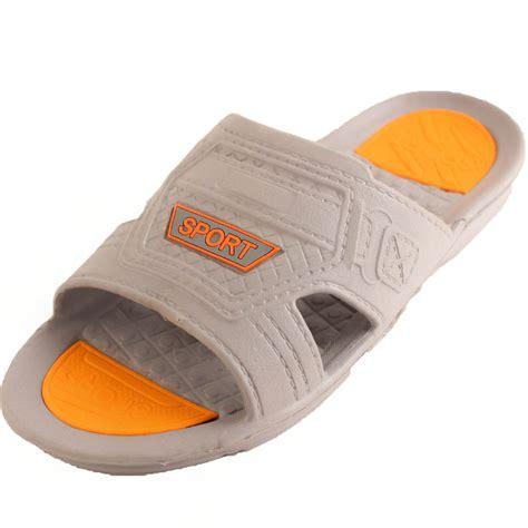 shower shoes mens slip on sandals sport active flip flop outdoor slide