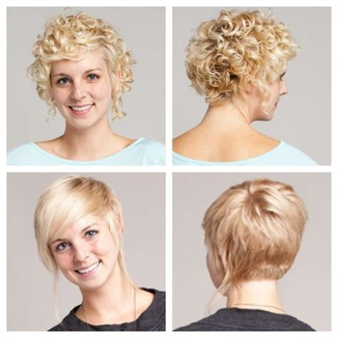 bob haircuts for curly hair front and back short curly hair stacked in back longer in front long