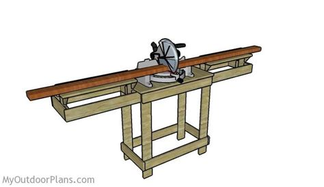 miter saw table ideas miter saw table plans diy garage ideas