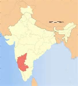 Karnataka Outline Map by Outline Of Karnataka