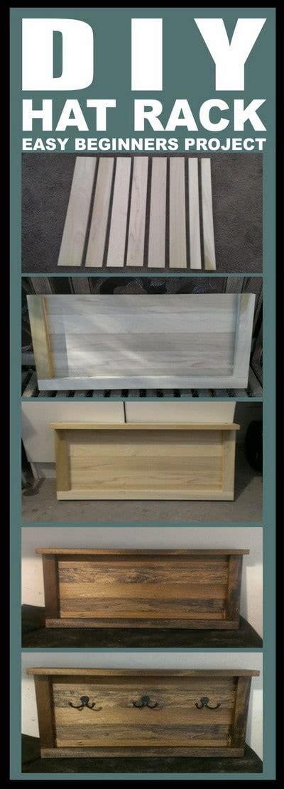 diy hat rack   wood step  step