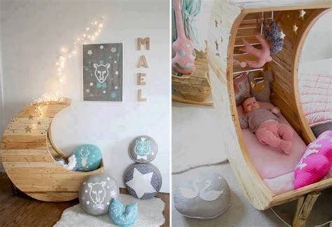 Cozy Baby Crib With Moon - 101 diy projects how to make your home better place for
