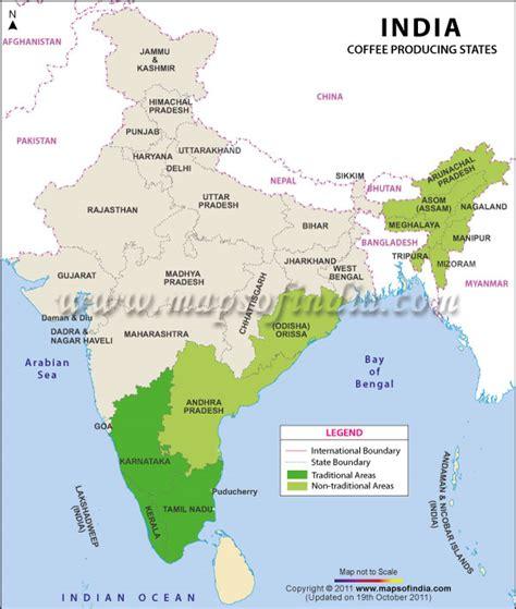 top  major coffee  tea plantation regions  india
